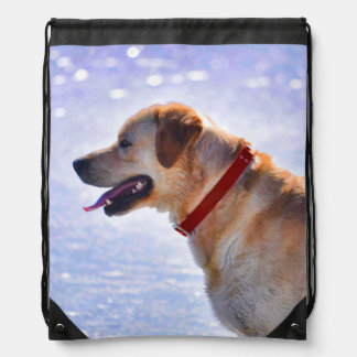 Golden Labrador Retriever Dog-lover Gift Drawstring Backpack