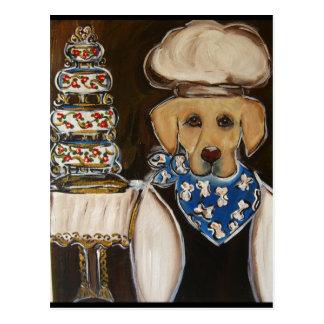 Golden Labrador Retriever Post Card
