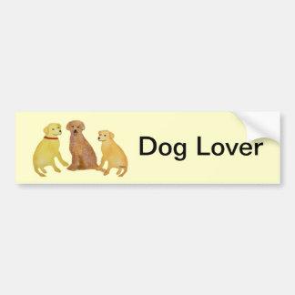 Golden Labrador Retrievers Bumper Sticker Car Bumper Sticker