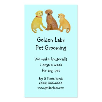 Golden Labs Pet Grooming Business Cards