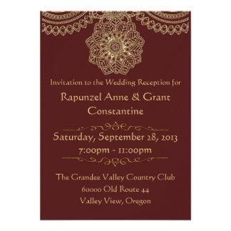 Golden Lace (Reception Invitation)