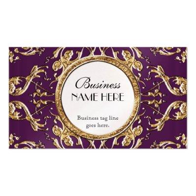 Golden Lace Satin Look Formal Elegant Businesses Business Card Templates