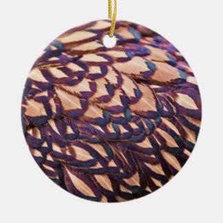 Golden Laced Wyandotte Chicken Ceramic Ornament