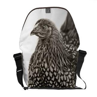 Golden Laced Wyandotte Chicken Messenger Bag