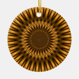 Golden Lagoon Ceramic Ornament