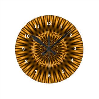 Golden Lagoon Round Clock