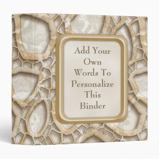 Golden Latte Interwebs 3 Ring Binder