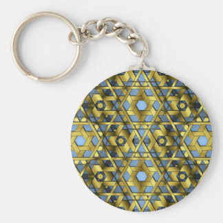 Golden Lattice 6-6 Lg Any Color Keychain