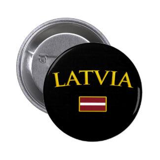 Golden Latvia Button