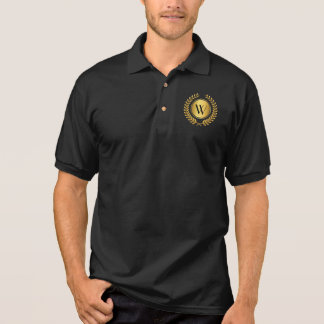 Golden Laurel Wreath Monogram Polo Shirt