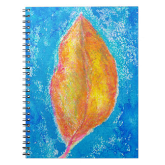 Golden Leaf Art Spiral Notebook