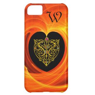 GOLDEN LEAF,  black orange yellow Cover For iPhone 5C