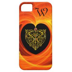 GOLDEN LEAF, black orange yellow iPhone 5 Cases