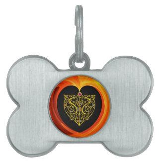 GOLDEN LEAF,  black orange yellow Pet Tag