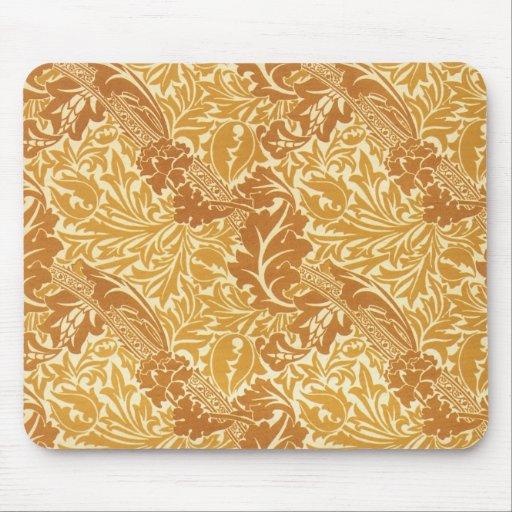 Golden Leaf Design Mouse Pad