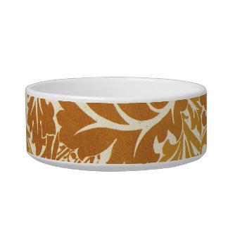 Golden Leaf Design Cat Water Bowls