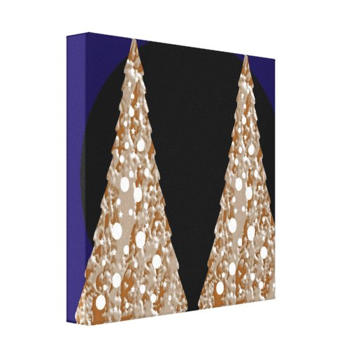 Golden Leaf Jewels  - Christmas Flavour 12 x 12 Stretched Canvas Print