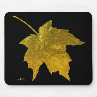 Golden Leaf Mousepad Horizontal