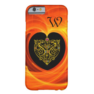 GOLDEN LEAF WITH CELTIC KNOTS,Black Orange Yellow Barely There iPhone 6 Case