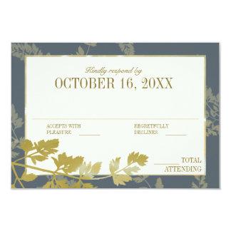 Golden Leaf Woodland Elegance Card