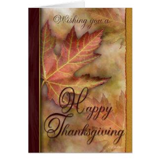 Golden Leafs Thanksgiving Card