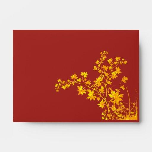Golden Leaves A6 Envelope