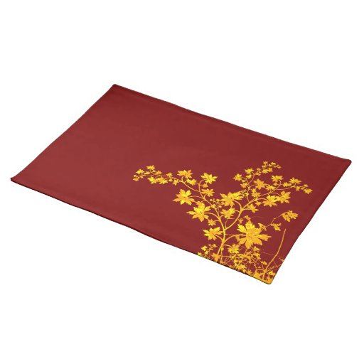 Golden Leaves American MoJo Placemat Cloth Place Mat