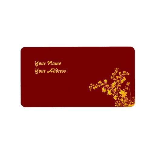 Golden Leaves Avery Address Label