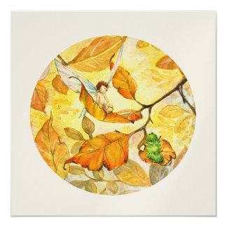 Golden Leaves Card