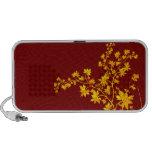 Golden Leaves Doodle iPod Speaker