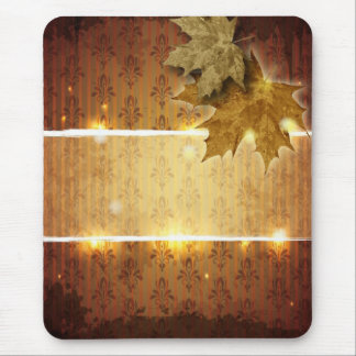 Golden Leaves glamorous Fall Wedding favor Mouse Pad