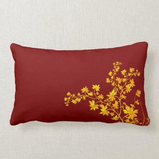 Golden Leaves Lumbar American MoJo Pillow