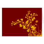 Golden Leaves Note Card