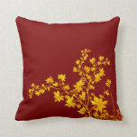 Golden Leaves Square American MoJo Pillow