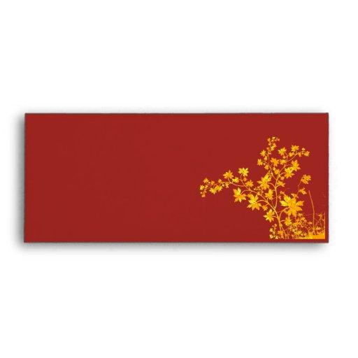 Golden Leaves Standard #9 Check Envelope