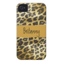Golden Leopard Fur Animal Print with Name