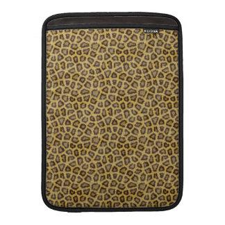 Golden Leopard Fur MacBook Sleeves