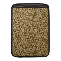 Golden Leopard Fur MacBook Sleeve