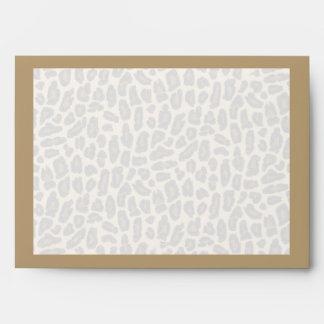 Golden Leopard Fur Print Envelopes