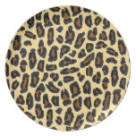 Golden Leopard Fur Print Plates