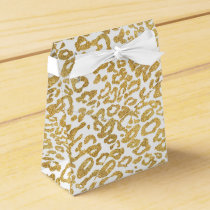 golden leopard skin favor box