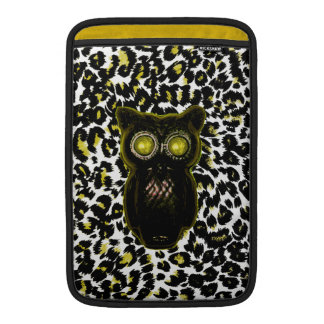 Golden Leopard Spots With Owl MacBook Sleeves