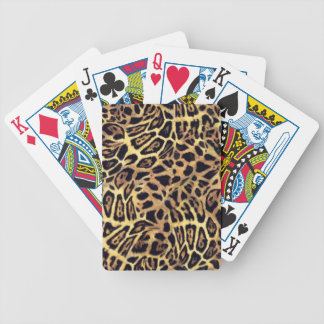 GOLDEN LEOPARD WOBBLE PATTERN BACKGROUNDS WALLPAPE BICYCLE PLAYING CARDS