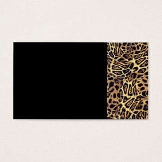 GOLDEN LEOPARD WOBBLE PATTERN BACKGROUNDS WALLPAPE BUSINESS CARD