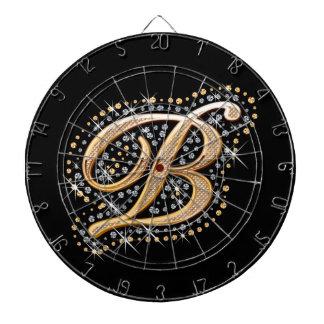 Golden Letter B - Dart Board
