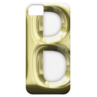 Golden Letter B Shiny Alphabet iPhone SE/5/5s Case