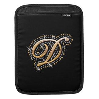 Golden Letter D - iPad Sleeve