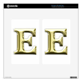 Golden Letter E Shiny Gold Alphabet Decals For Kindle Fire