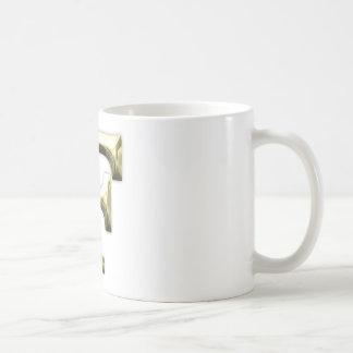 Golden Letter F Shiny Gold Alphabet Coffee Mug