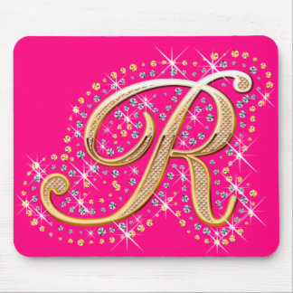 Golden Letter R - Mousepad